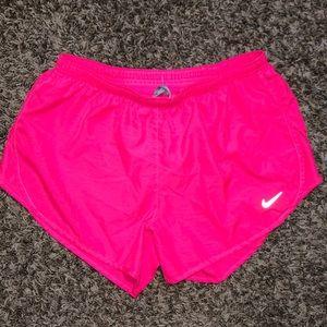hot pink nike running shorts